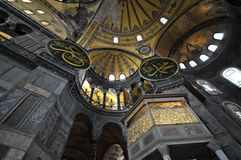Hagia Sophia cathedral in Istanbul Royalty Free Stock Images