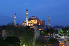 Hagia Sophia Church. In Istanbul,Turkey Royalty Free Stock Photo