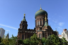 Hagia Sophia Church. Is the city landmark in Harbin, Heilongjiang Province, China stock images