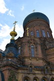 Hagia Sophia Church. Is the city landmark in Harbin, Heilongjiang Province, China royalty free stock photo