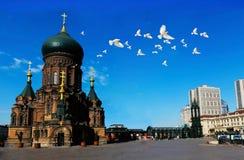 Hagia Sophia Church of Harbin. Harbin urban landscape architecture, Hagia Sophia Church Stock Photos