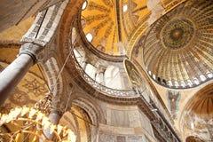 Hagia Sophia church interior. Istanbul, Turkey - June 24, 2015: Hagia Sophia church interior, national museum in Istanbul Royalty Free Stock Photos