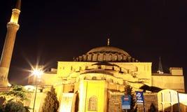Hagia Sophia Church, Istanbul. A view of Hagia Sophia Church (or Hagia Sophia Mosque) at night, IStanbul Stock Images