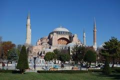 Hagia Sophia church in Istanbul. ISTANBUL, TURKEY - CIRCA NOVEMBER 2016: Hagia Sophia church of the Holy Wisdom Stock Image