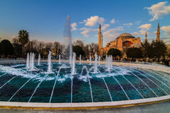 Hagia Sophia church Istanbul Turkey. Hagia Sophia (Turkish: Aya Sofya) is a former Orthodox patriarchal church, later a mosque, and now a museum in Istanbul Stock Photo