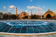 Hagia Sophia church Istanbul Turkey. Hagia Sophia (Turkish: Aya Sofya) is a former Orthodox patriarchal church, later a mosque, and now a museum in Istanbul Royalty Free Stock Images