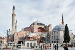 Hagia Sophia - the Church of St. Sophia royalty free stock images