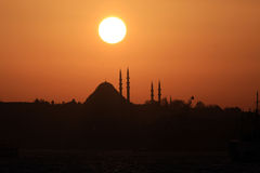 Hagia Sophia Church at Sunset Royalty Free Stock Photography
