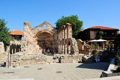 Hagia Sophia Church, vieux Nessebar, Bulgarie Photographie stock