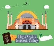 Hagia Sophia, Costantinopoli Turchia Fotografie Stock