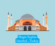 Hagia Sophia, Costantinopoli Turchia illustrazione di stock