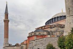 Hagia Sophia dans un jour nuageux Image stock