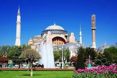 Hagia Sophia in de Lente Stock Foto's
