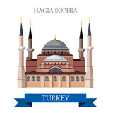 Hagia Sophia in de toeristische attractieoriëntatiepunt van Istanboel Turkije royalty-vrije illustratie