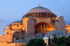 Hagia Sophia an der Dämmerung Lizenzfreies Stockfoto
