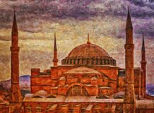 Hagia Sophia Digital Painting Royalty Free Stock Photos