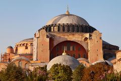 Hagia Sophia at dusk Stock Photos