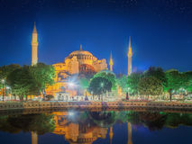 Hagia Sophia early at the night in Istanbul Royalty Free Stock Photos