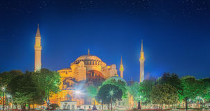 Hagia Sophia early at the night in Istanbul Royalty Free Stock Image