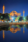 Hagia Sophia early at the night in Istanbul Royalty Free Stock Images