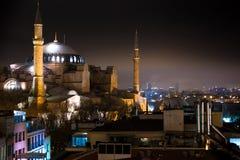 Hagia Sophia, een vroegere Orthodoxe patriarchale basiliek, later een moskee en nu een museum in Istanboel, Turkije royalty-vrije stock afbeeldingen