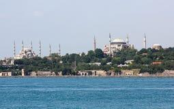 Hagia Sophia en Blauwe Moskee Royalty-vrije Stock Fotografie