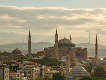 Hagia Sophia en Estambul la mañana del comienzo del verano imágenes de archivo libres de regalías