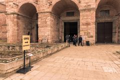 Hagia Sophia, en grekisk ortodox kristen patriark- basilika arkivbild