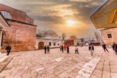 Hagia Sophia, en grekisk ortodox kristen patriark- basilika royaltyfri fotografi