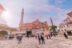 Hagia Sophia, en grekisk ortodox kristen patriark- basilika arkivfoto