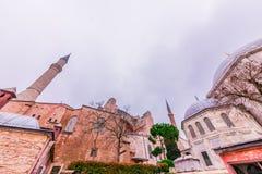 Hagia Sophia, en grekisk ortodox kristen patriark- basilika royaltyfri foto