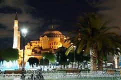 Hagia Sophia en la noche Imagen de archivo libre de regalías