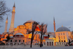 Hagia Sophia en la noche, imagen de HDR fotografía de archivo libre de regalías