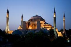 Hagia Sophia en la puesta del sol Fotografía de archivo libre de regalías