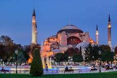 Hagia Sophia en la puesta del sol, Estambul, Turquía Imagen de archivo