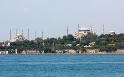 Hagia Sophia et mosquée bleue Photographie stock libre de droits