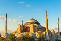 Hagia Sophia. In the evening, Istanbul, Turkey Stock Photos