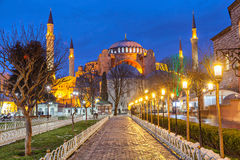 Hagia Sophia in the evening Royalty Free Stock Images