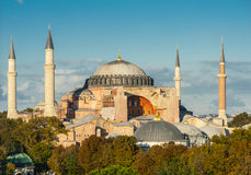 Hagia Sophia. In the evening, Istanbul, Turkey Royalty Free Stock Photo