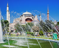 The Hagia Sophia and fountain in Istanbul Royalty Free Stock Photo