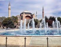 Hagia Sophia. Fountain Istanbul ancient Royalty Free Stock Image