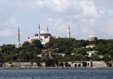 Hagia Sophia and Hagia Irene. In Istanbul,Turkey Royalty Free Stock Images