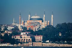 Hagia Sophia. In istanbul of Turkey Royalty Free Stock Images