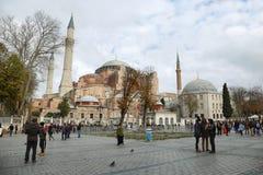 Hagia Sophia is het grootste monument van Byzantijnse Cultuur Royalty-vrije Stock Fotografie
