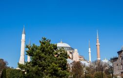 Hagia Sophia, het wereldberoemde monument stock afbeelding