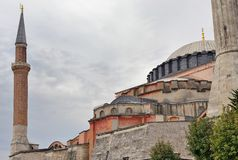 Hagia Sophia i en molnig dag Fotografering för Bildbyråer