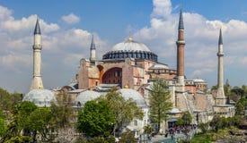 Hagia Sophia i Istanbul, Turkiet Fotografering för Bildbyråer