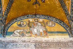 Hagia Sophia Imperial Gate mosaic Royalty Free Stock Photography