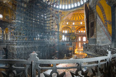 Hagia sophia. Indoor hagia sophia ancient istanbul Royalty Free Stock Photos