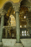Hagia Sophia, inre Arkivfoto